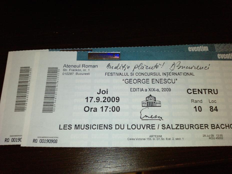 Invitatie la Festivalul George Enescu, semnatura Dragos Bucurenci