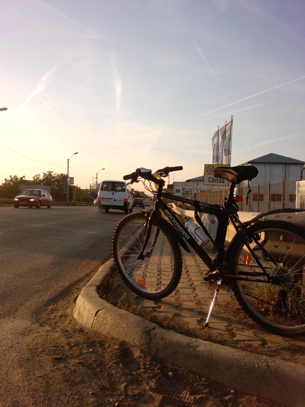 160 Km singur pe bicla – la final, in Chitila