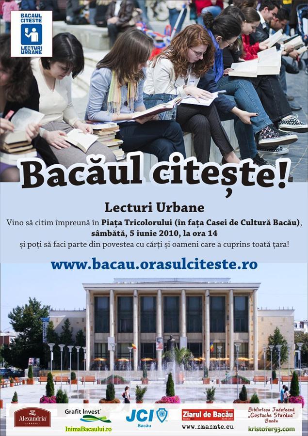 Afis Lecturi Urbane editia de Bacau