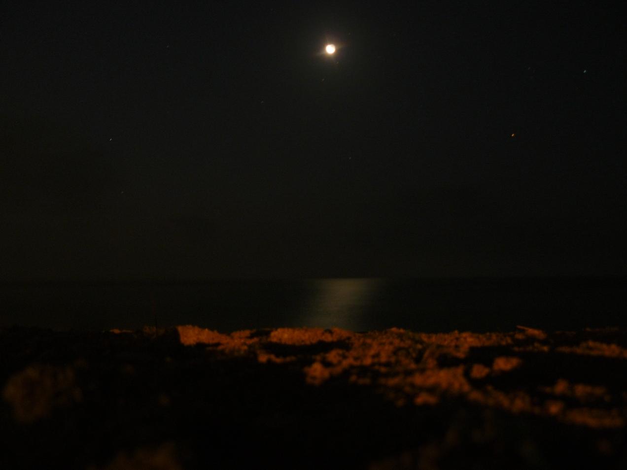 Foto luna si mare, la Vama Veche