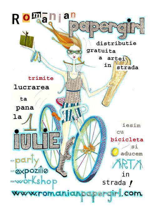 Afis Romanian Papergirl