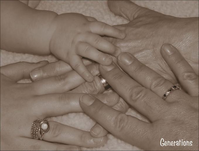Foto mainile a patru generatii