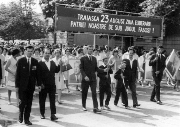 Foto vizita de lucru 23 August, comunism, generatie cu tupeu