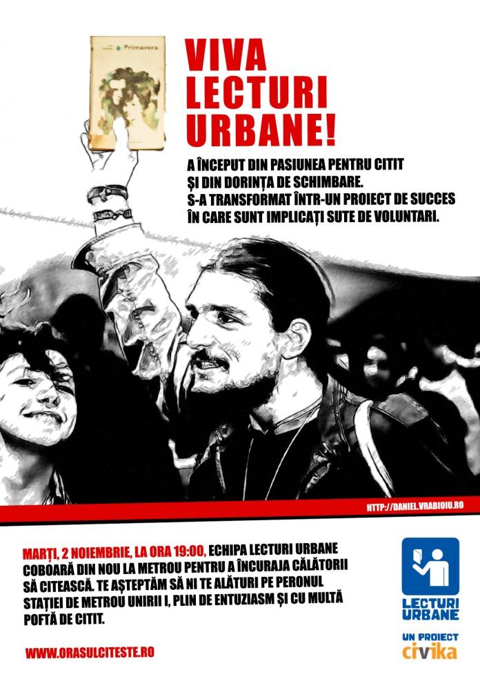 Poster Lecturi Urbane 2 Noiembrie - VIVA LECTURI URBANE