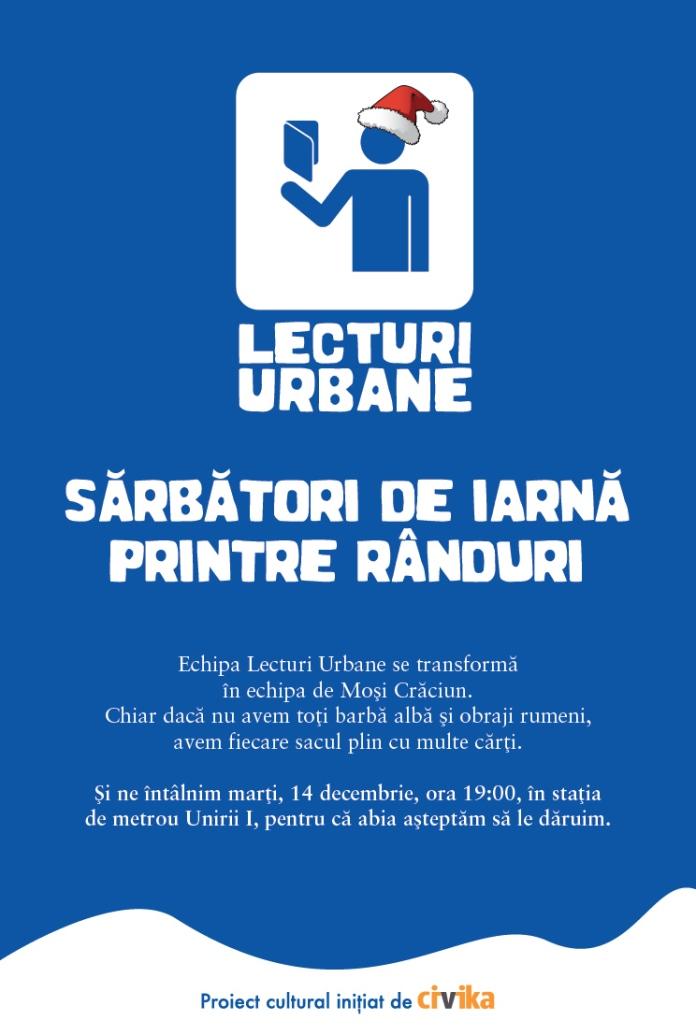 Afis Lecturi Urbane 14 Decembrie Bucuresti