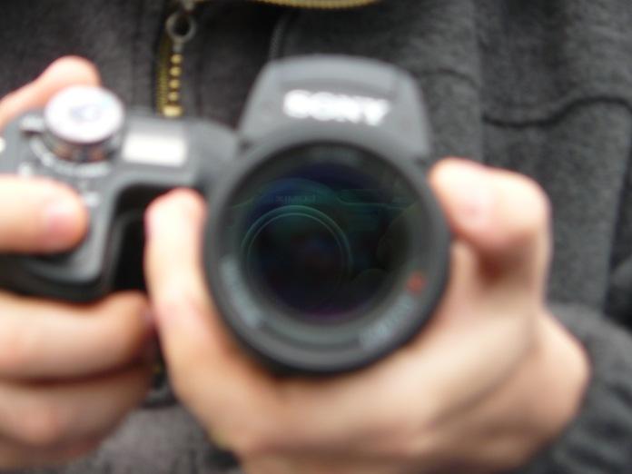Camere foto, fotografie reflectie in obiectiv