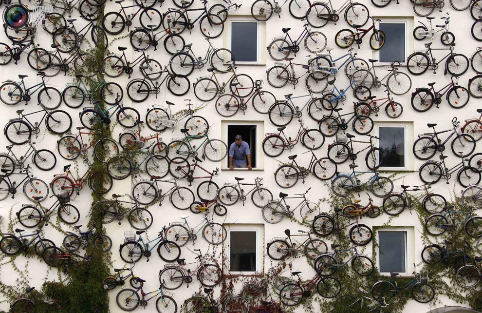 Foto perete plin cu biciclete