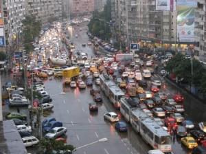 Foto intersectie blocata trafic Bucuresti