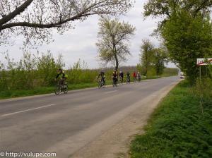 Fotografie bicilete pe sosea - sosirea in Lehliu Gara - tura catre Vama Veche pe biciclete