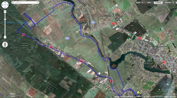 Harta traseu bicicleta Chitila, Mogosoaia, Buftea