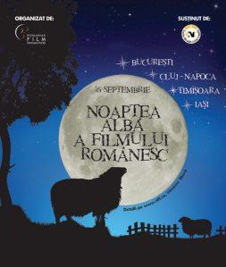 Afis Noaptea Alba a Filmului Romanesc