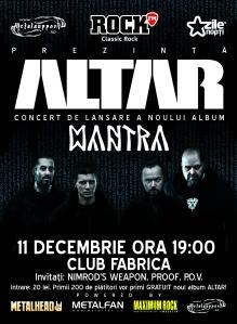Afis Altar Bucuresti Club Fabrica